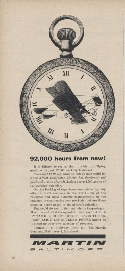 All sizes | Martin Ad | Flickr - Photo Sharing! #old #white #black #letter #vintage #clock #typography