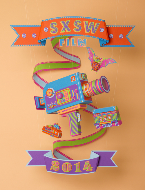 Official SXSW Film Festival Poster By Zim And Zou Graphic Design