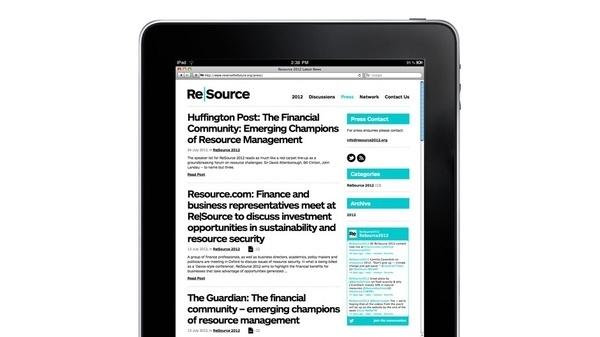 branding agency London | Re|Source | Work | venturethree #identity #web