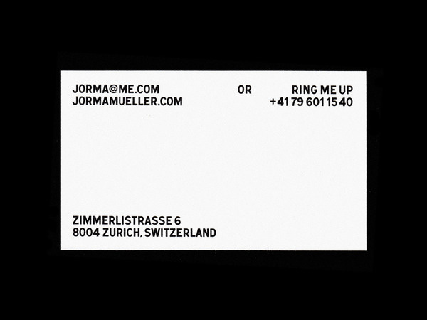 Bureau Collective – Jorma Mueller Photography #businesscard #stationary #print #design #graphic