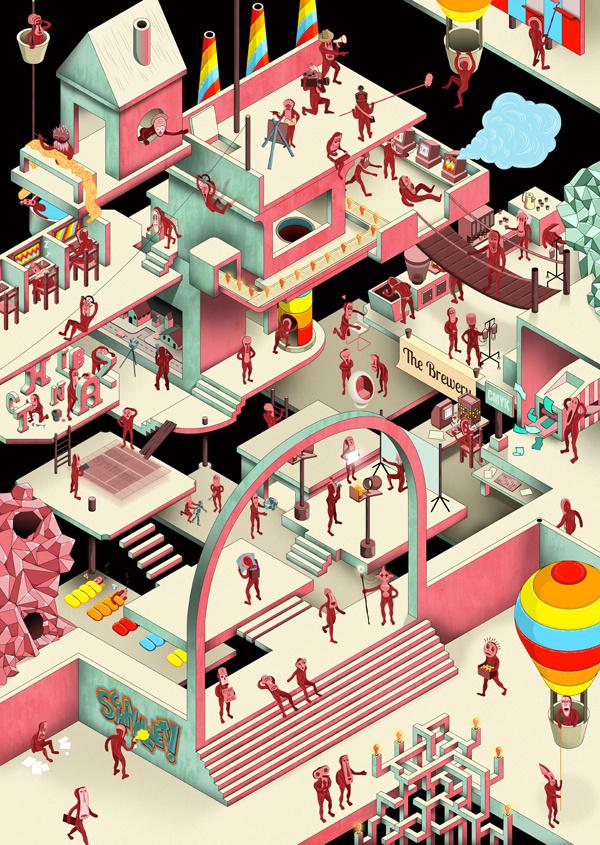 The Idea Factory on Behance #illustration
