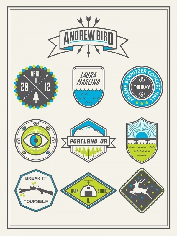 Dribbble - ANDREW BIRD POSTER 03.jpg by Stewart Scott-Curran #logo #stamp #design #poster