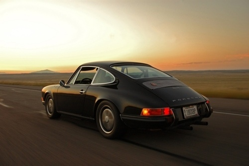 Classy Nbrhd, There's something so romantic about driving a... #sunset #classic #porsche #car