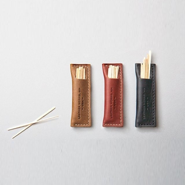 Leather Toothpick Holder #tech #flow #gadget #gift #ideas #cool