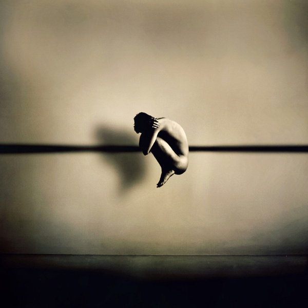 Martin Stranka #ball #curled #floating #photography #up #fetal #hug