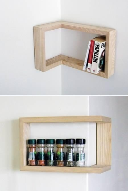 All Sms Types| Inspirational Quotes: [Fropki] Incredibly Cool Shelves #interior #wooden #corner #design #shelf