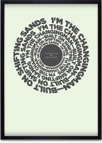 Change Posters | KentLyons #buy #lyrics #charity #change #poster #weller #typography