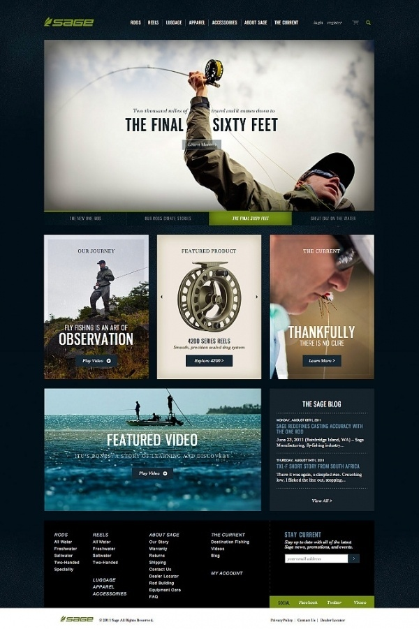 Sage Fly Fishing - Tofslie Inc. | The Creative Studio of Edwin Tofslie - Creative Direction, Art Direction, Ideas, Design, Interactive, Web #web