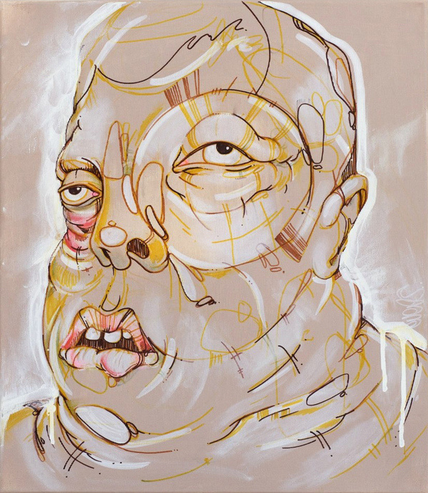Pale Wallery #thomas #painting #art #face #character #evers