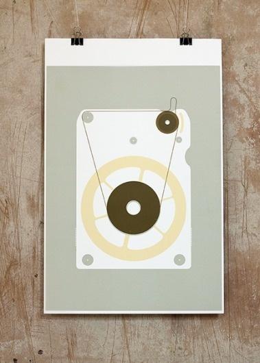 8 - track #analog #foreman #print #eight #track #minimal #poster #august