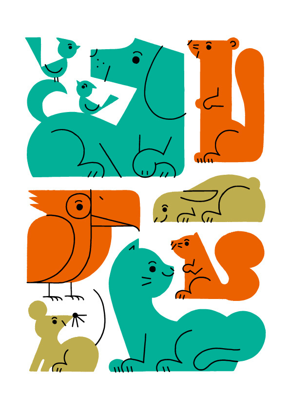illustration, animals, shunsuke satake #colors