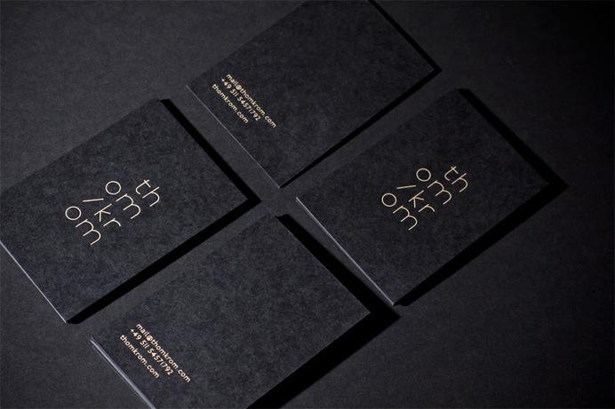 Thom/Krom branding design #visual #identity #branding #stationery