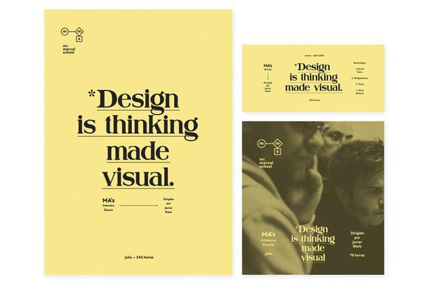 Tata&Friends: Mr. Marcel School Rebrand / on Design Work Life #poster