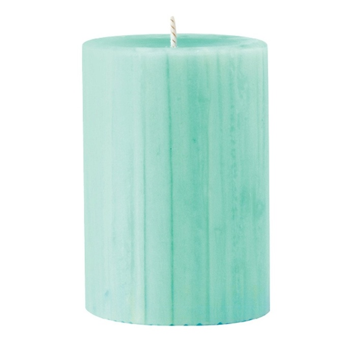 Marbled Pillar Gooseberry & Peach Scented Candle, 10 x 7 cm