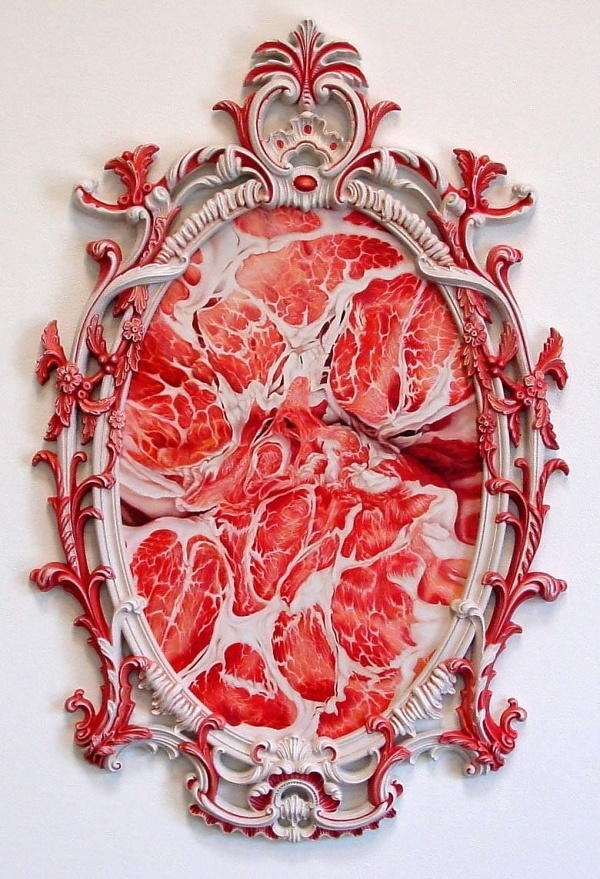 Victoria Reynolds Title: Down the Primrose Path, 2003 presented by Richard Heller Gallery #frame #flesh #meat #art
