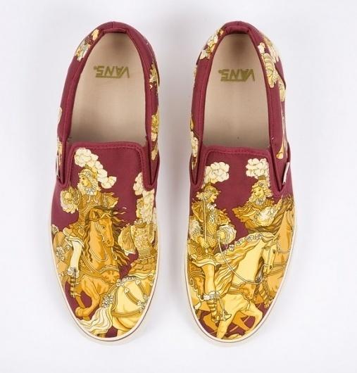 Hermès Custom Vans Slip-Ons « Format Magazine Urban Art Fashion #shoes #vans #herms