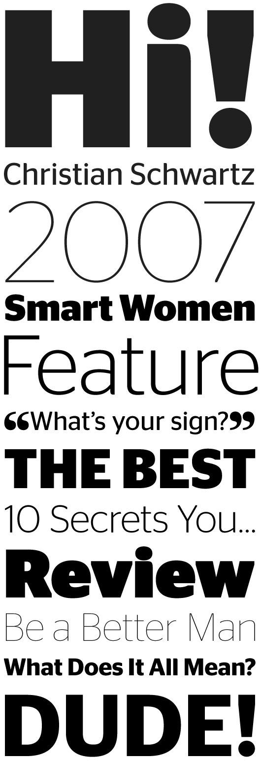 Stag Sans by Christian Schwartz