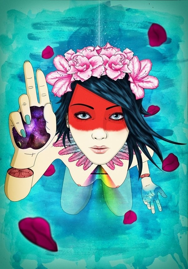 ON A DREAM #wind #nude #hipster #slice #illuminati #illustration #flowers #girl #rose #design #indian #poster #cute #make #illustrator #hands #blue #watercolor #sex #naked #woman #graphic #hair #photoshop #triangle