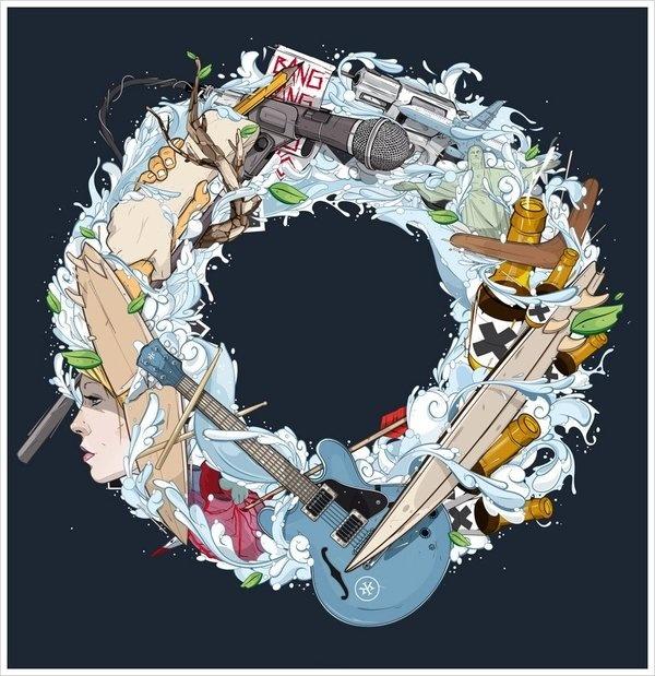 Kid Mac - No mans land #vector #cover #artwork #illustration #music
