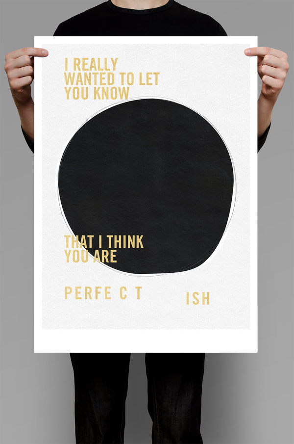 Perfect ish #design #graphic #black #poster #gold #typography