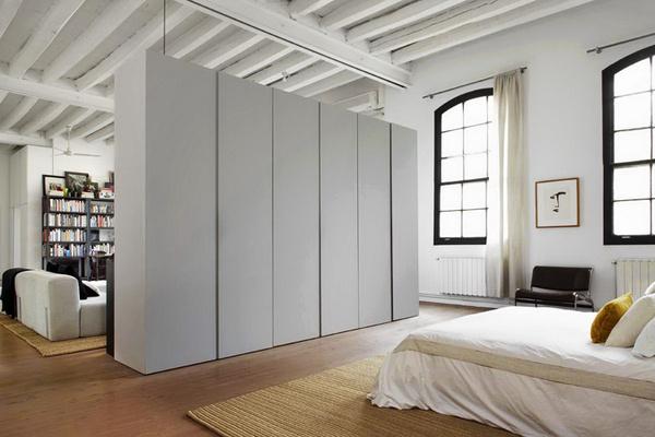 miss design interior new york style barcelona loft 10 #storage #loft