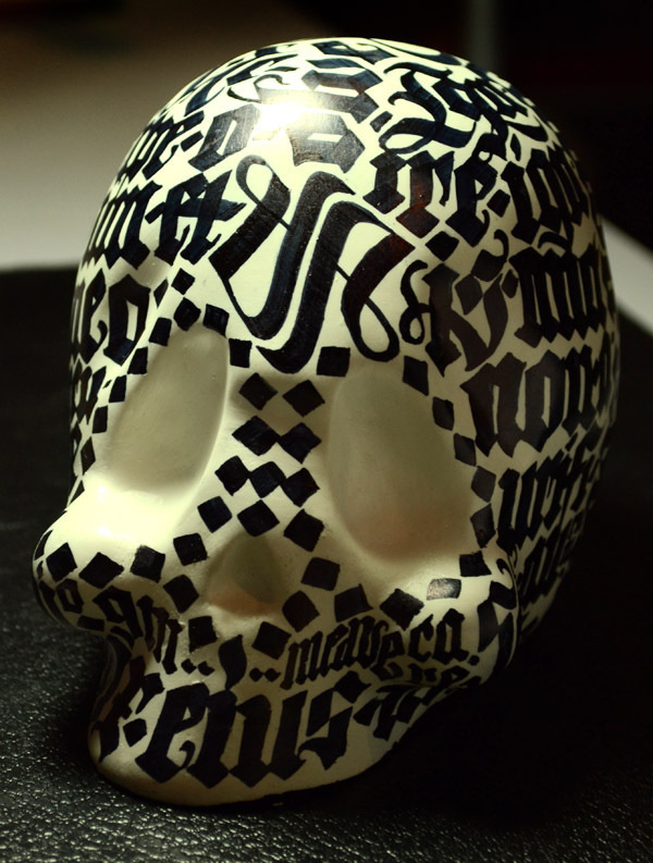 Calligraphic Skull on the Behance Network #calligraphy #skull