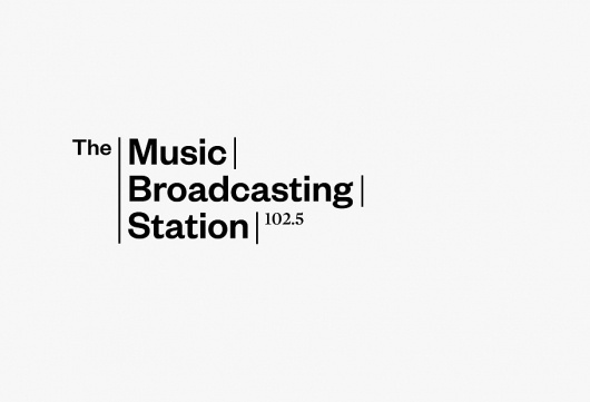 Portfolio of Luke Robertson | The Music Broadcasting Station #branding #luke #design #graphic #robertson #founders #identity #logo #grotesk #typography