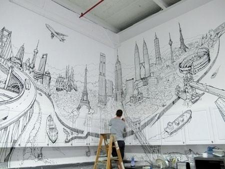 Área Visual: El arte urbano de Deck Two #painting #drawing #art #street
