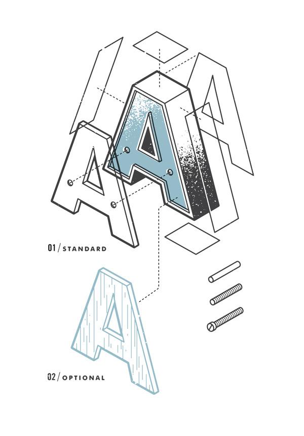 The Exploded Alphabet — the Design Office of Matt Stevens Direction + Design + Illustration #alphabet #letters