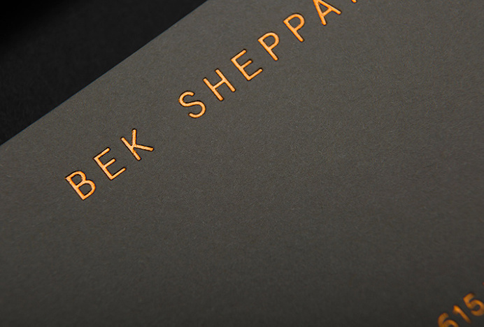 Bek Sheppard by Studio Brave