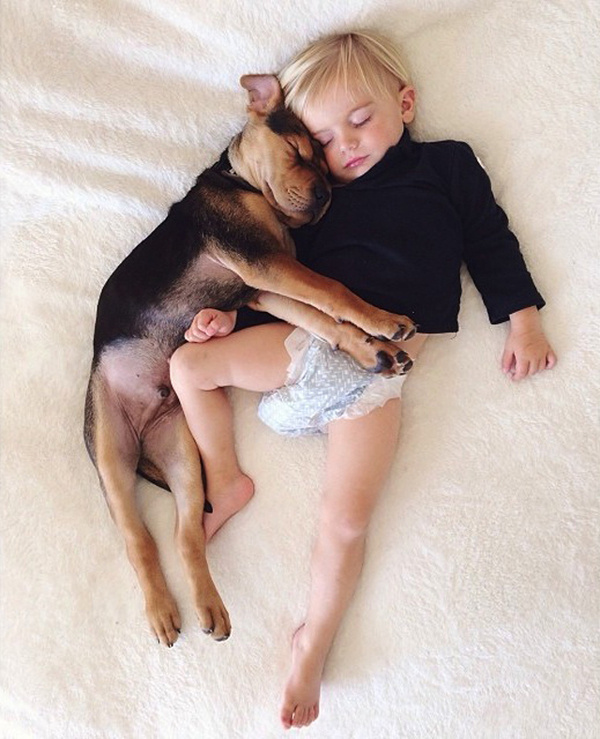 A Naptime Story with Dog and Baby 6 #photography #baby #dog