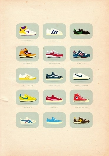 40+ Vintage Posters to Inspire Your Next Designs Color Palette #shoes