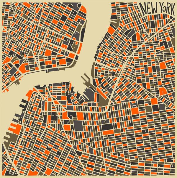 Modern Abstract City Maps #illustration #map