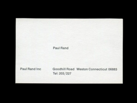 Paul Rand's Business Card | Swiss Legacy #card #design #graphic #business