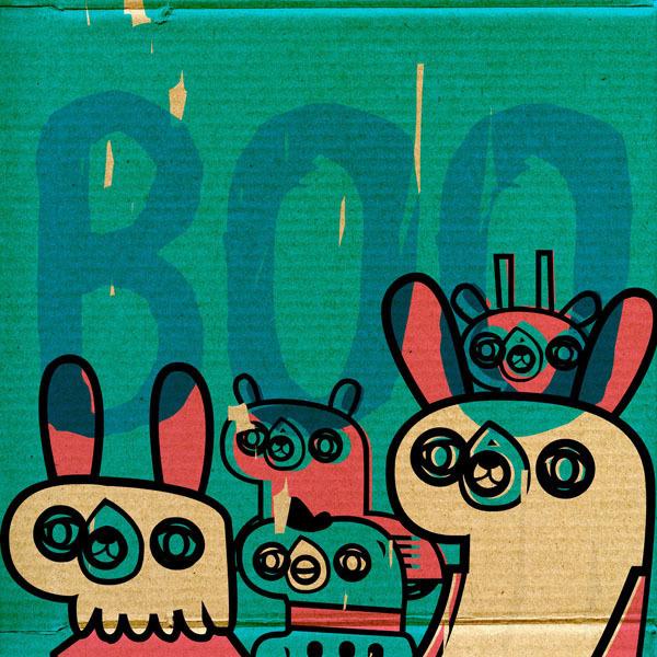 Street Animals 012+ on Behance #illustration #texture #cardboard #vectors
