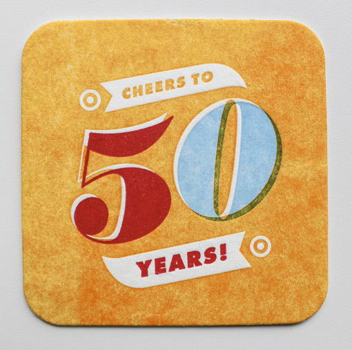 50th_Party_10 #coaster #printing #vintage #branding