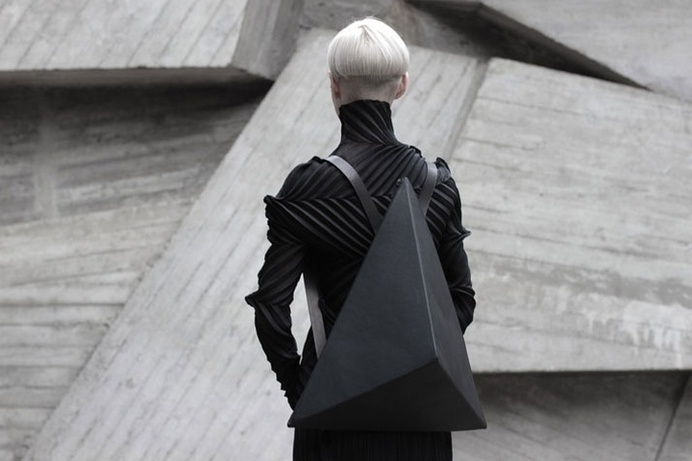 Leather Accessories by Konstantin Kofta #futuristic #black #leather #bag #facet