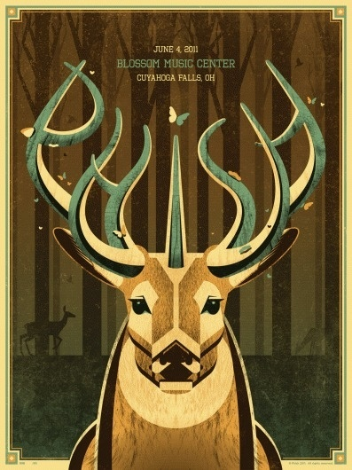 DKNG Studios » Posters #deer #phish #poster #dkng
