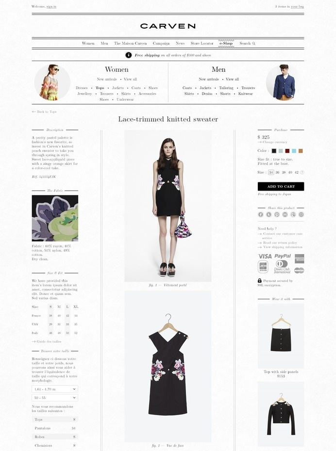 Carven #fashion #web #carven