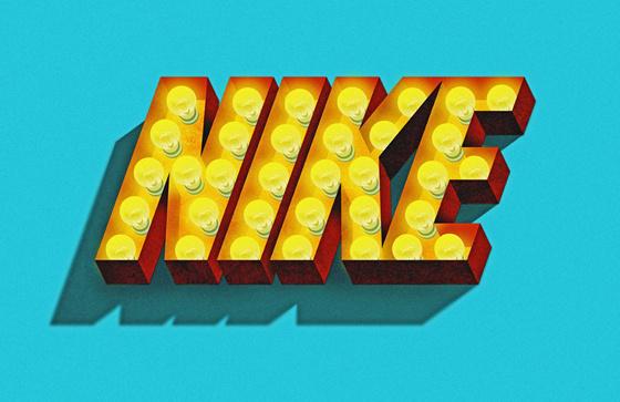 TheeBlog JeffRogers #type #nike #lights #logo