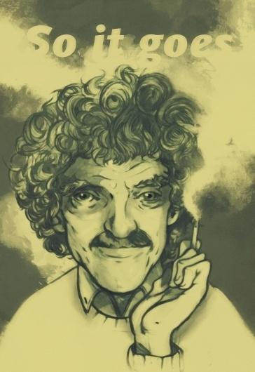 tumblr_lyjatbkI2w1qjco10o1_1280.jpg (1280×1859) #kurt #author #tosheff #illustration #portrait #stefan #vonegutt