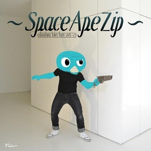 SpaceApeZip #illustration