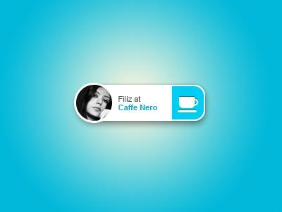 Notification #design #ui #cafe #blue #web