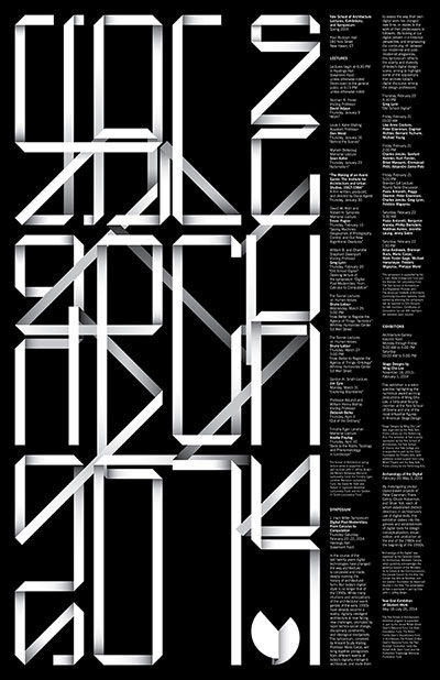 Yale School of Architecture Jessica Svendsen #graphic design #typography #poster