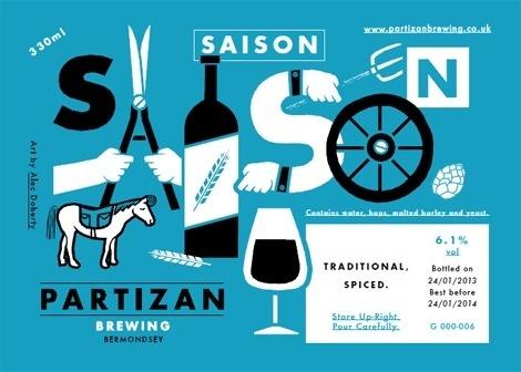 Partizan Brewing Labels #packaging #beer #label #bottle