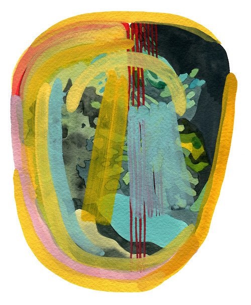 Leela Fordwatercolour and gouache on paper, 2012 #painting #art