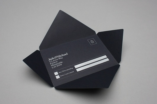 John Barton #screenprinted #cut #blackwhite #invitation #modern #laser