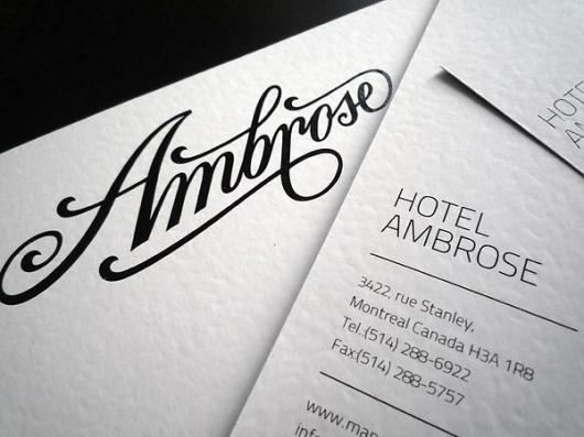 HotelAmbrose identity / 2011 on the Behance Network