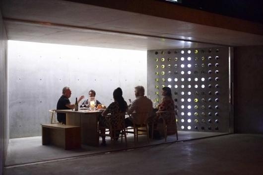 Architecture Photography: Wiroa Station Wine Cellar / MAP Architects - Wiroa Station Wine Cellar / MAP Architects (145116) – ArchDaily #concrete #cellar #chairs #architects #wine #people #map #wiroa #table #station
