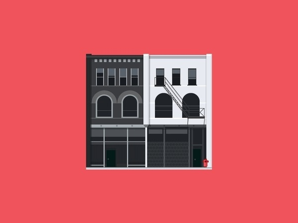 Gastown #flat #illustration